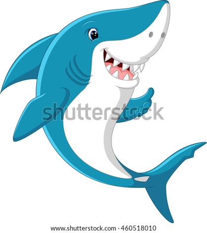 Cute shark giving thumb up