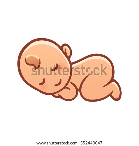 Baby sleeping outline
