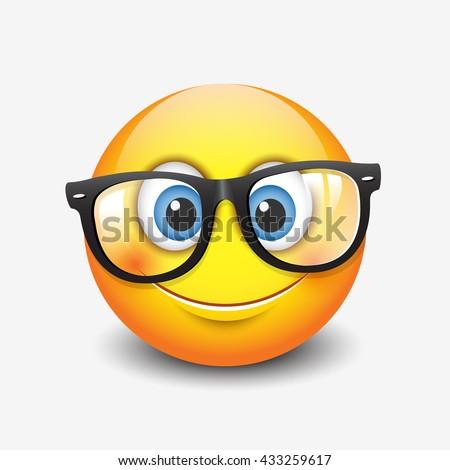 Cartoon Fish Wearing Thick Glasses