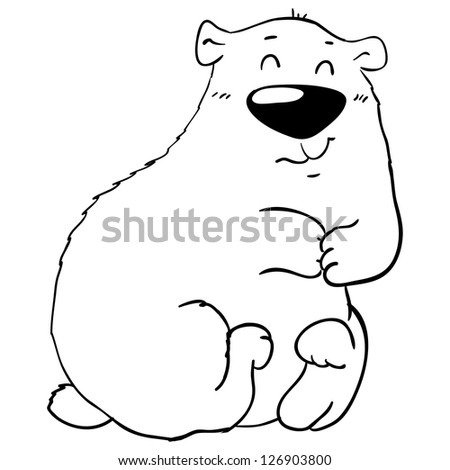 cute smiling polar bear