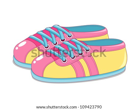Cute Sneakers - stock vector