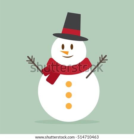 cute snowman. cartoon design. vector illustration
