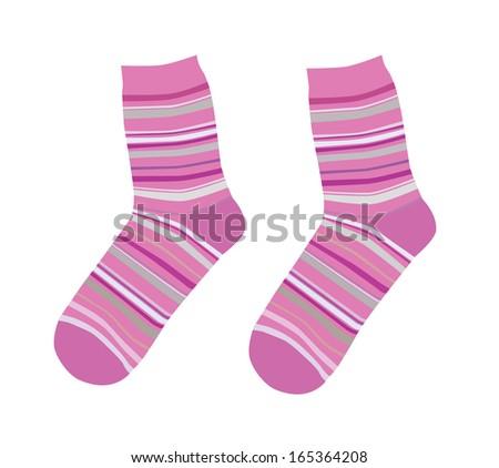 Cute socks - stock vector