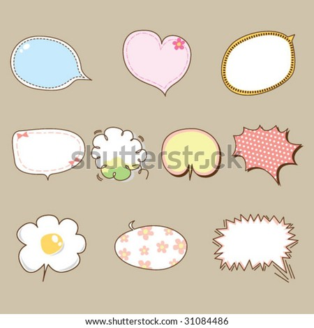 Quote Bubble Cute Cute Thinking B...