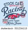 cute stock car racing team ...