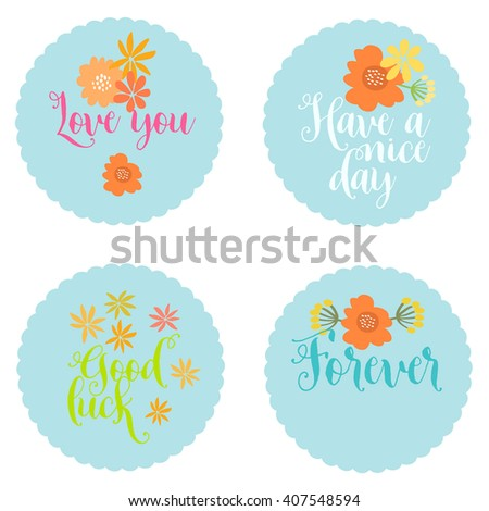 cute summer card with flowers. floral and herbal elements. vintage style. wedding card - stock vector