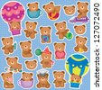 Cute Teddy Bear Clip Art - stock photo