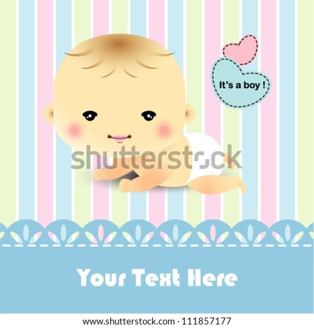 Cute template for baby arrival