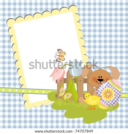 Cute template for Easter greetings card (EPS10)