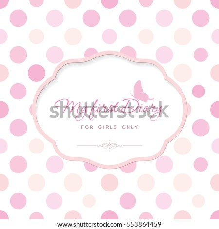 Cute Template Notebook Cover Girls My Stock Vector (Royalty Free ...