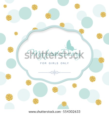 cute template notebook cover girls my stock vector royalty free