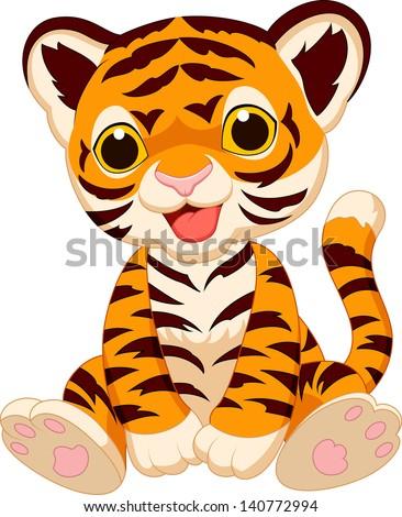 Cartoon Tiger In Love Stock Vector - Image: 47477051
