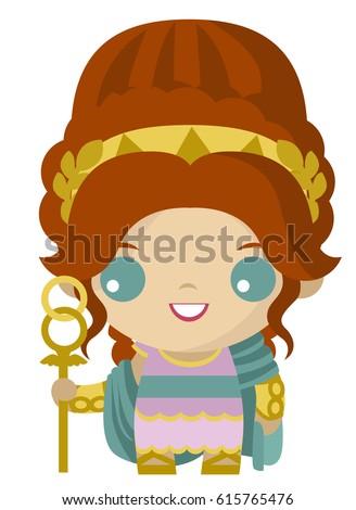 cute tiny hera juno goddess marriage stock vector hd royalty free rh shutterstock com cartoon therapy cartoon therapist
