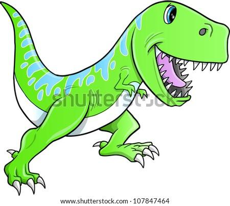 Cute Dinosaur Logo Cute Tyrannosaurus Dinosaur