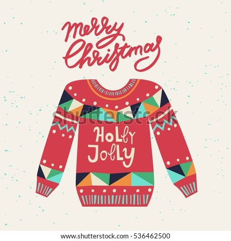 Cute ugly christmas sweater sweater party stock vector hd royalty cute ugly christmas sweater sweater party clip art for invitations greeting cards website stopboris Images