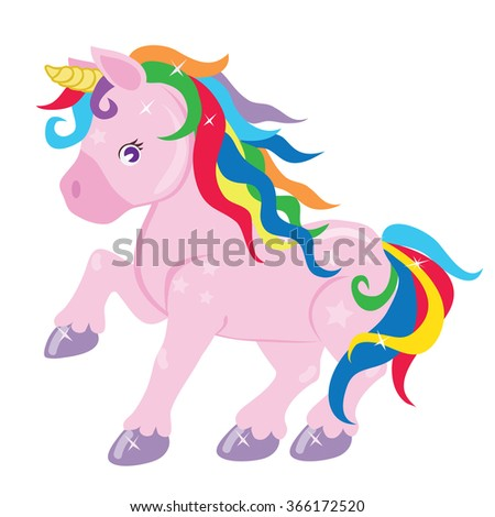 Cute unicorn vector illustration