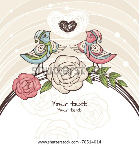 cute valentine card with free place for your text - stock vector