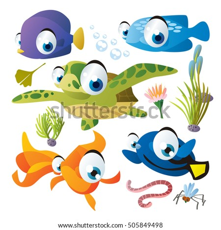Cartoon Fish Stock Images, Royalty-Free Images & Vectors ...
