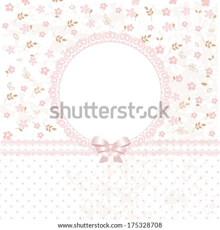 Cute vector flower background for wedding, birthday,invitation - stock vector