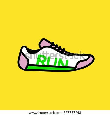 Cute vector graphic illustration of a sport shoe for running