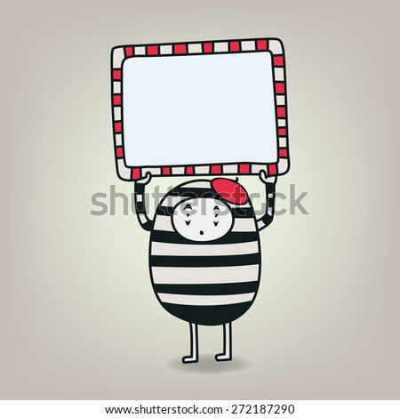 Cute vector pantomime character - stock vector