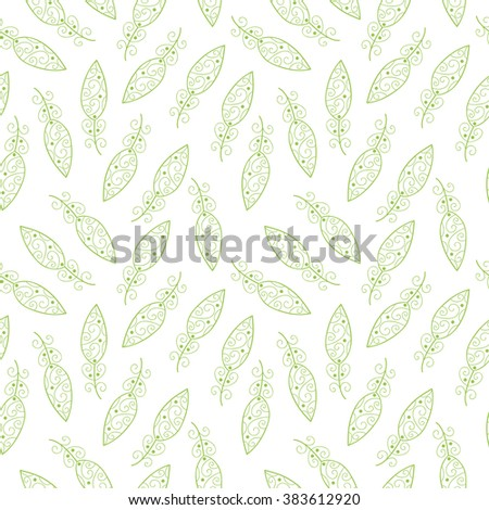 Cute vector seamless pattern with leaves.