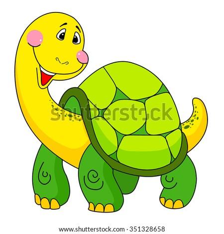 Cute vector turtle - stock vector