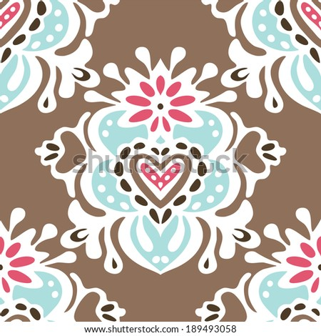 Cute vintage seamless vector pattern - stock vector