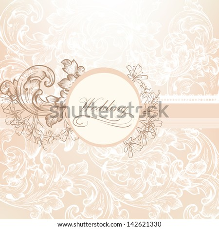 Cute wedding background in pink and purple colors for design