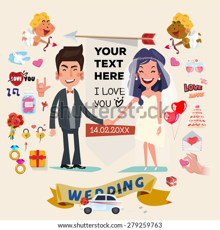Wedding Characters Vector Stock Images Royalty Free Images