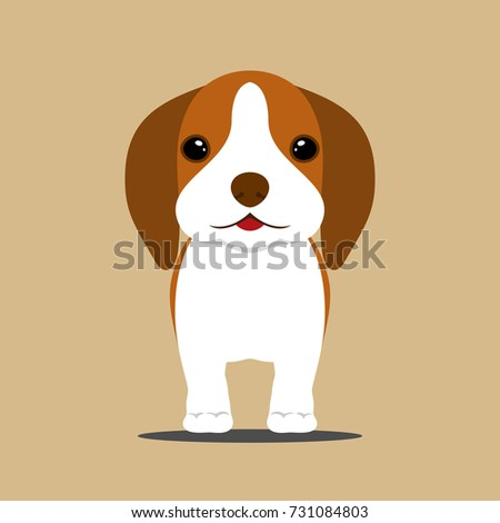 Most Inspiring Cute Canine Brown Adorable Dog - stock-vector-cute-young-brown-beagle-puppy-dog-in-flat-style-lovely-adorable-pet-vector-illustration-731084803  2018_80393  .jpg