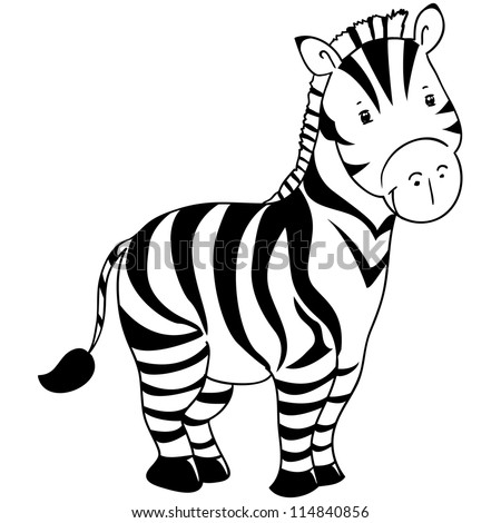 Zebra outline picture images for Zebra without stripes coloring page
