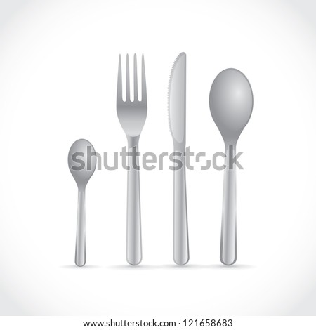 Cutlery, dishes, coffee spoon, spoon, knife and fork