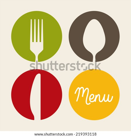 cutlery graphic design , vector illustration - stock vector