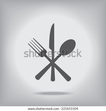 Cutlery Icon - stock vector