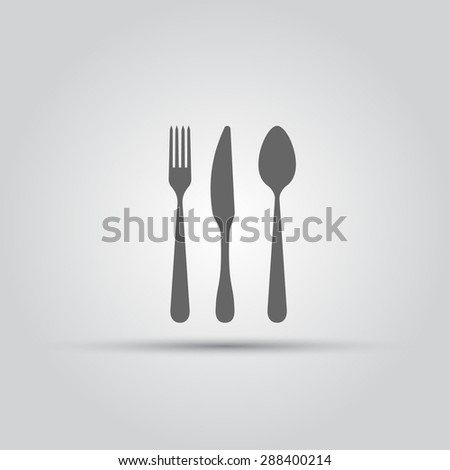 Cutlery isolated vector silhouette - stock vector