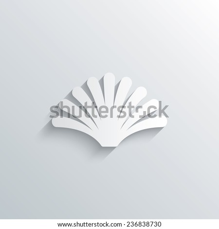 Cutout Paper Background Sea Shell Sign Stock Vector 236838730