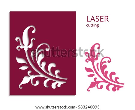 Cutout paper flower vector floral silhouette stock vector hd cutout paper flower vector floral silhouette decorative corner element for laser cutting or wood mightylinksfo