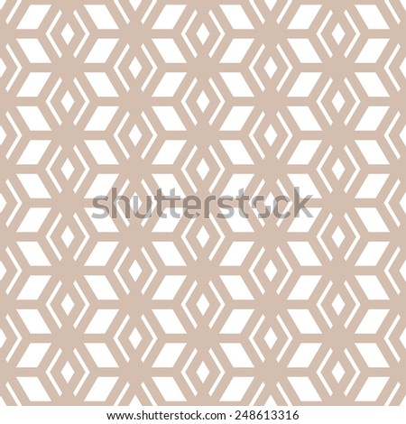 Cutout Silhouette Trellis Pattern Ornamental Seamless Stock Vector