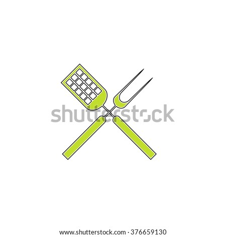 Cutters simple flat icon - stock vector