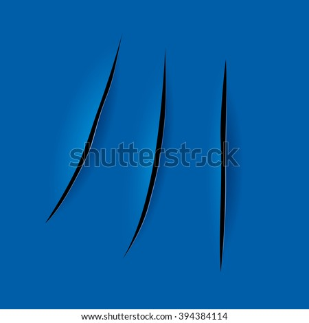 Cutting on the paper,  background in Lucio Fontana style. - stock vector