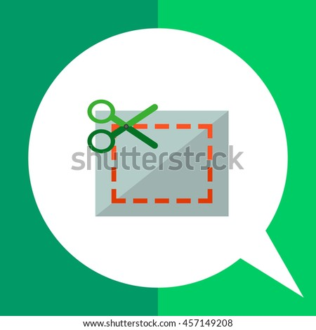 Cutting Scissors Icon - stock vector