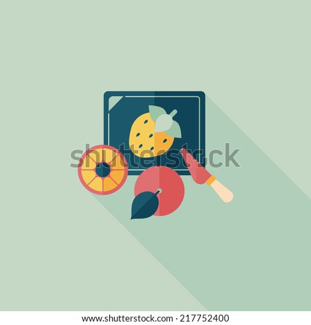 cutting toy flat icon with long shadow,eps10 - stock vector