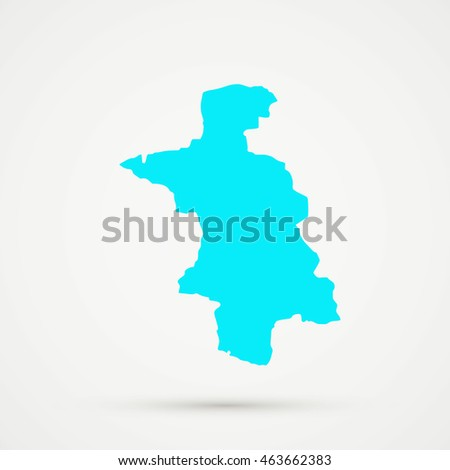 Cyan Aarau District Canton Country Subdivision Stock Vector