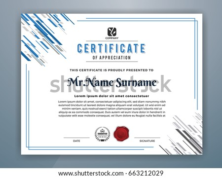 Cyan multipurpose modern professional certificate template stock cyan multipurpose modern professional certificate template design for print vector illustration yadclub Image collections