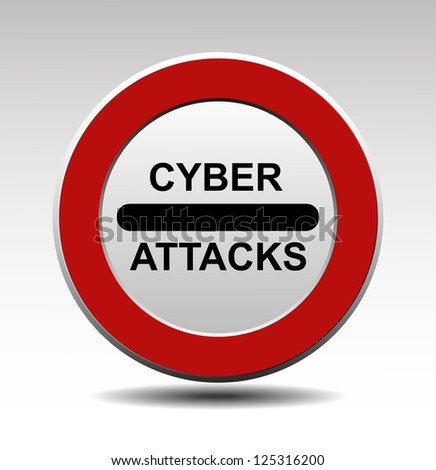 Cyber attacks vector sign - stock vector