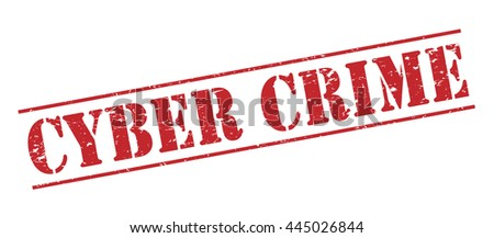 cyber crime vector stamp on white background