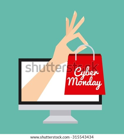 cyber monday deals  design, vector illustration eps10 graphic  - stock vector