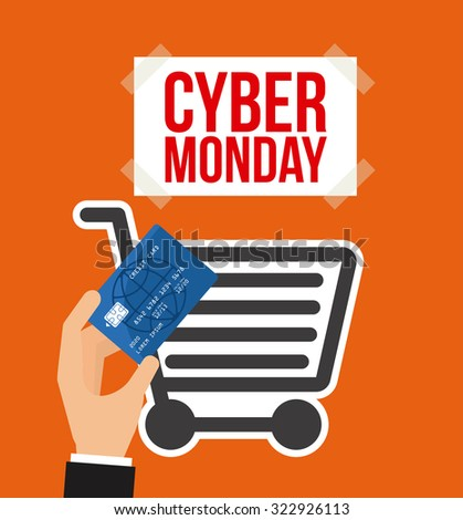 cyber monday design, vector illustration eps10 graphic