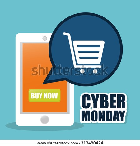 Cyber monday ecommerce promotions and sales, vector illustration
